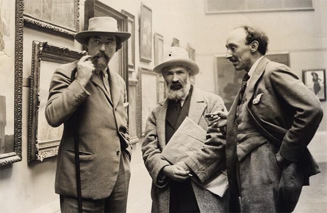 12 - Constantin-Brancusi-cu-Augustus-John-si-Frank-Owen-Dobson-National-Portrait-Gallery-detail