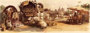 1825 Târgul Moșilor. Acuarelă De Amedeo Preziosi