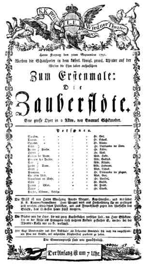 Playbill for the premiere