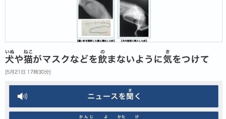 Title: にほんごの ニュースを よむ れんしゅう (Level: Elementary 3 and above)