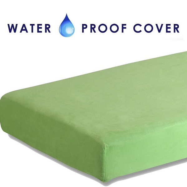 Kids Memory Foam Mattress Green 8 Twin W Waterproof Cover