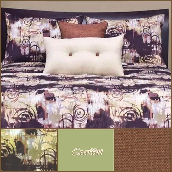 Graffiti Bedding Reversible Fitted Comforter Set