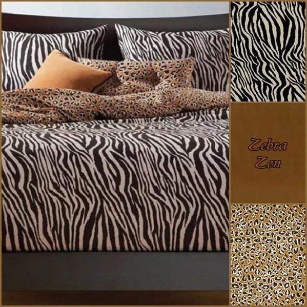 African Bedding Zebra Zen Bed Cap Comforter Set
