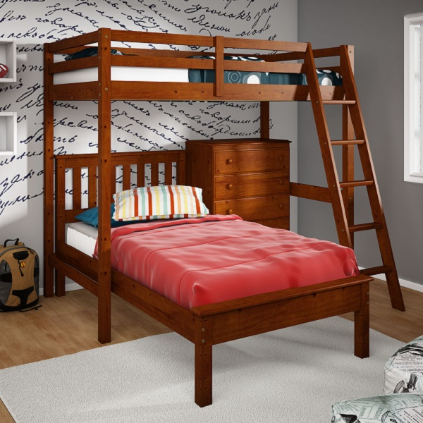 Twin Size Loft Bed Amp Platform Bed With 5 Drawer Chest