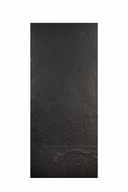 Pannello in fusione alluminio Plutone colore nero