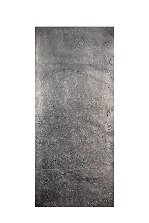 Pannello in fusione alluminio Plutone colore argento