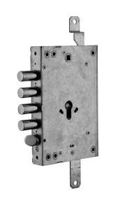 serratura triplice a ingranaggio reversibile