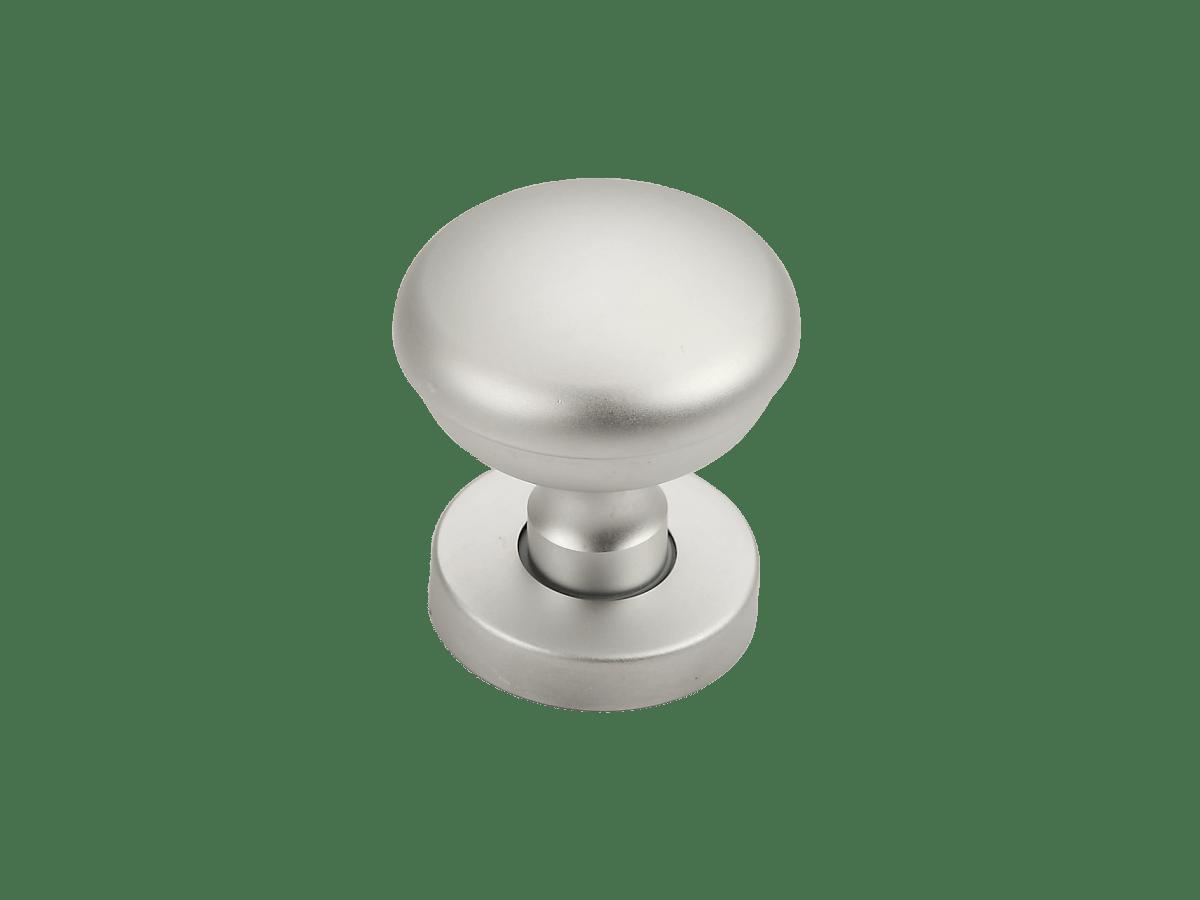 pomo alluminio cromo satinato