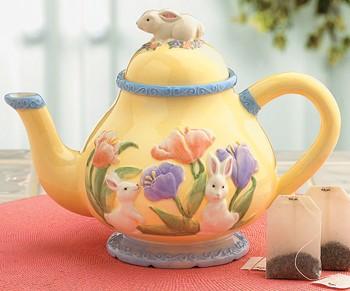 easter teapot