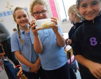 We made our own butter today!