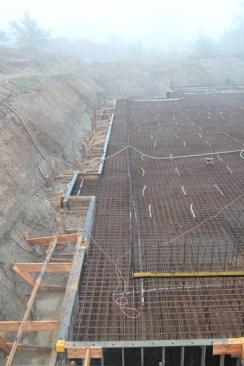 Herstellen einer Stahlbetondecke vor dem Betonieren