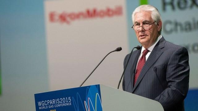 Tillerson alla World Gas Conference di Parigi, 2015. (Romuald Meigneux/SIPA)