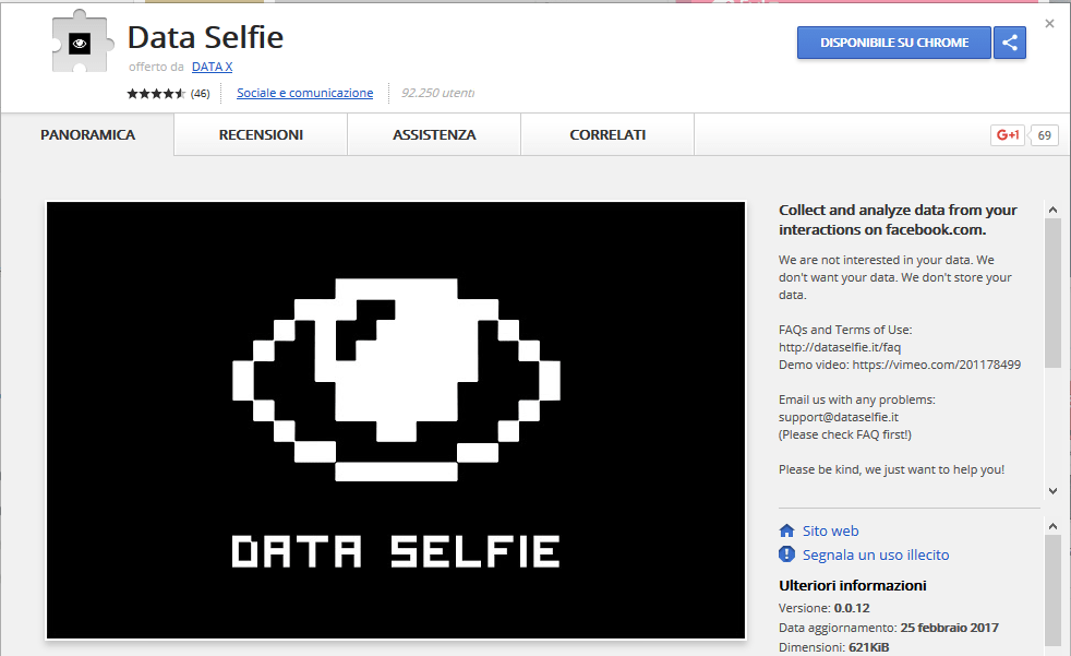 data selfie chrome
