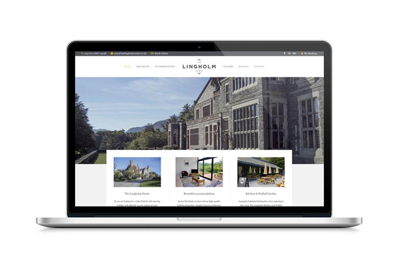 Lingholm Estate, web design cumbria