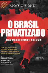 Capa do livro O Brasil Privatizado