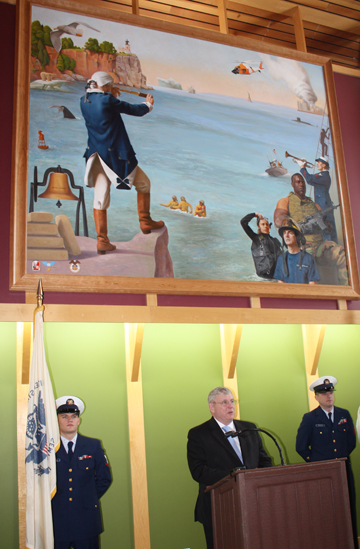 Coast Guard in Committal Hall
