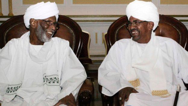 Hassan al Tourabi e Omar al Bashir
