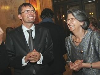 Il Ministro della Difesa Lubomir Galko con l'Ambasciatore Brunella Borzi