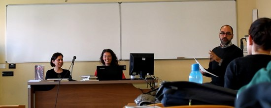 Il prof. Alessandro Catalano introduce la lezione