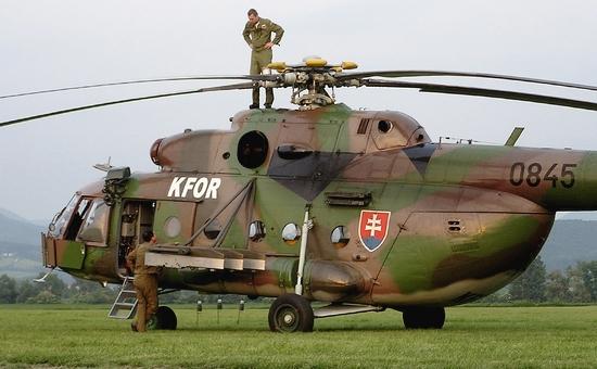 Un Mi-17 utilizzato dall'esercito slovacco in Afghanistan (dal sito valka-cz)