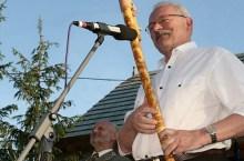 il Presidente Gasparovic alla fujara (foto prezident.sk)