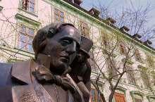 statua di HC Andersen a Bratislava