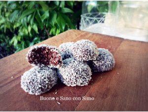 Palline di Porridge al Cocco e cacao