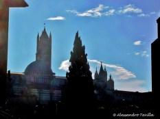 Siena Duomo visto dalle spalle