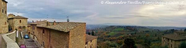San Gimignano panoramica Val d'Elsa