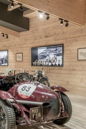 Particolare di auto al Museo Moto d'Epoca