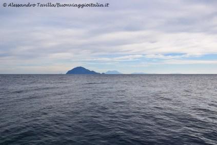 Vista sulle altre isole Eolie da Alicudi