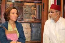 Jazia Santissi Direttore Ente Nazionale Turismo Marocco con il Prof Fassi Fihri