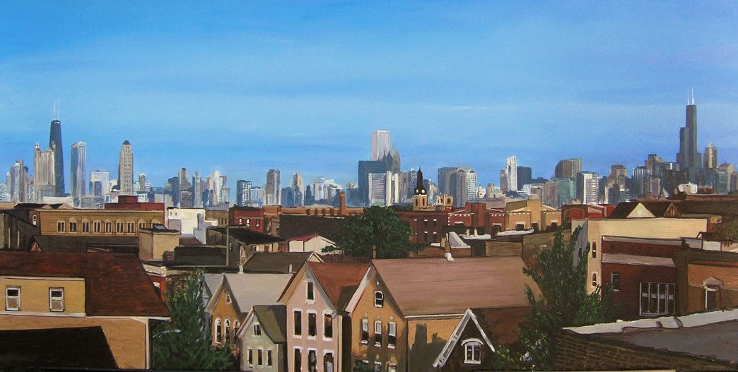 Chicago Skyline from Bucktown