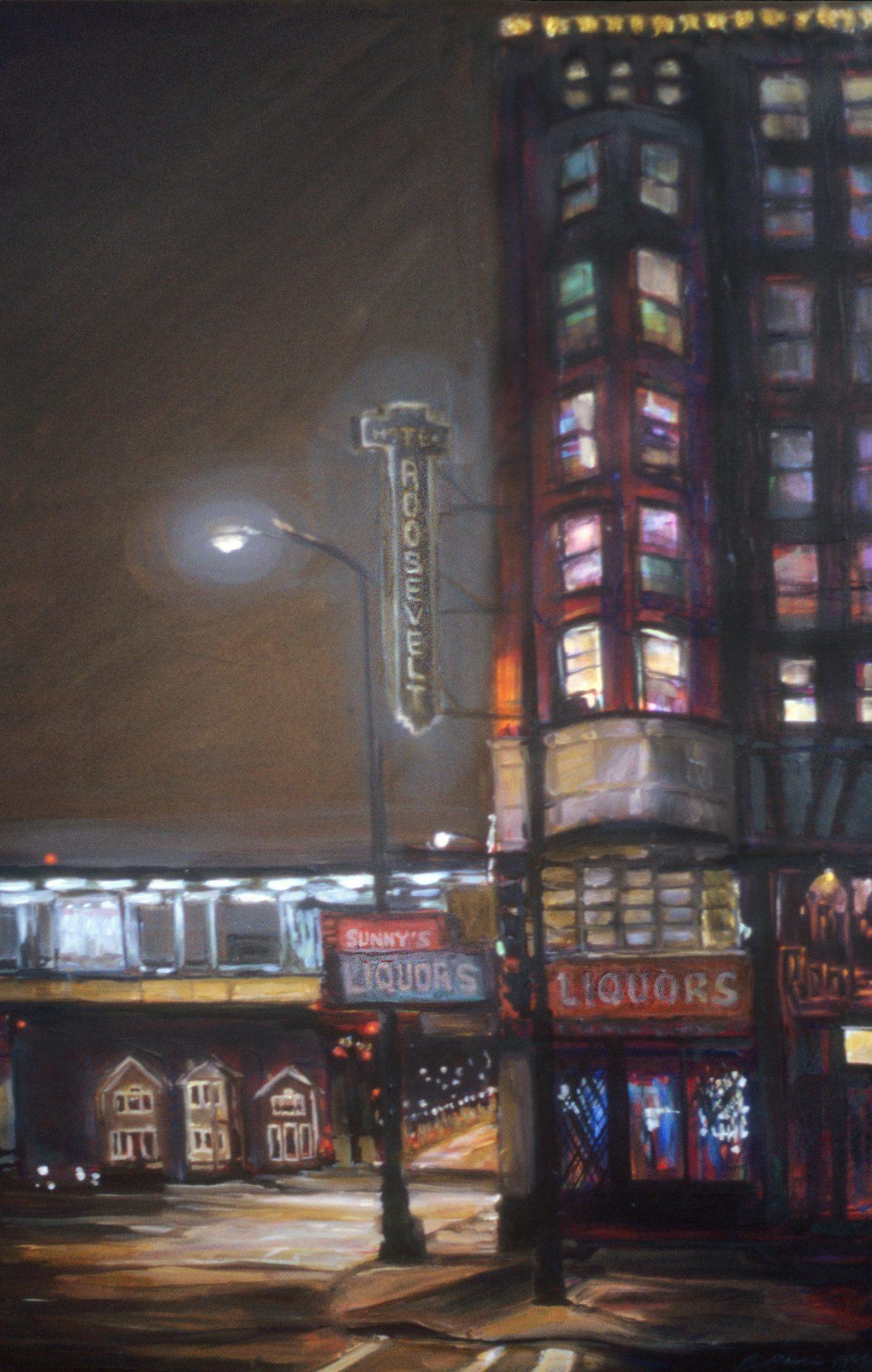 Hotel Roosevelt at Night