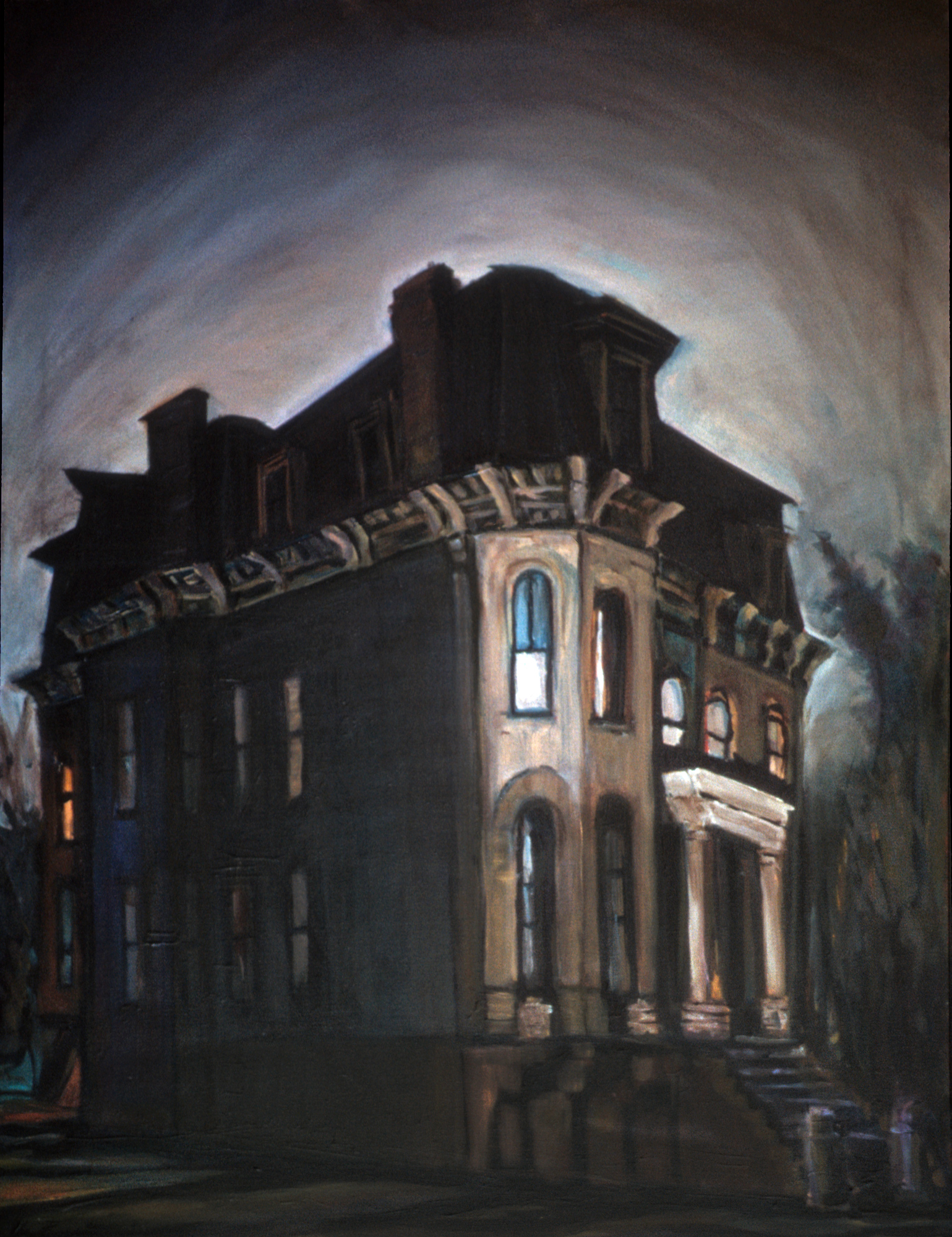Old Mansion at Night