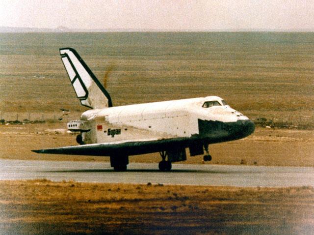 A Landing Buran Space shuttle