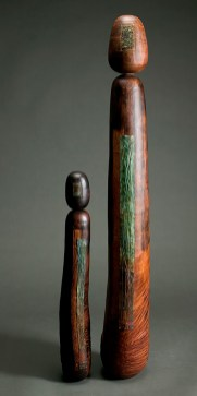 """52"""" x 9"""" and 34"""" x 6"""" Madrone Burl, Copper, Bamboo, Hollow Forms (Available for Purchase)"""