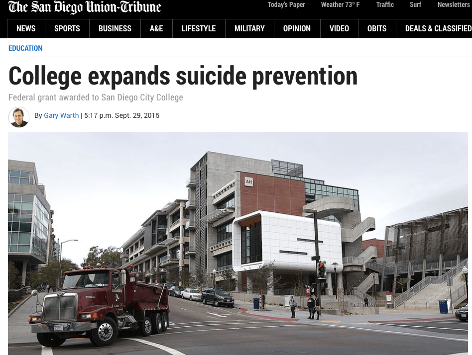 campus expands suicide prevention