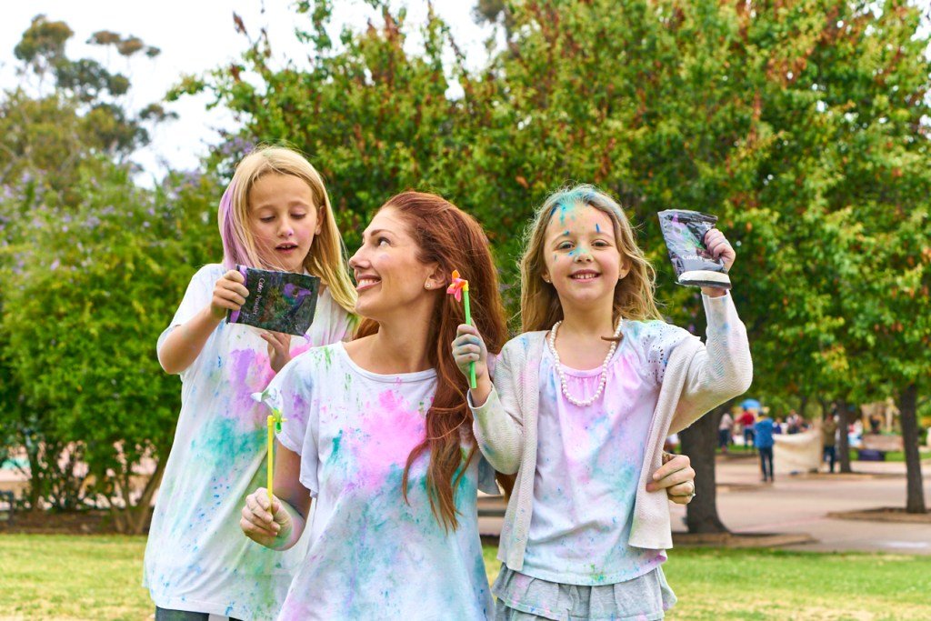 ColorWalk 2019 Abby Burd and children