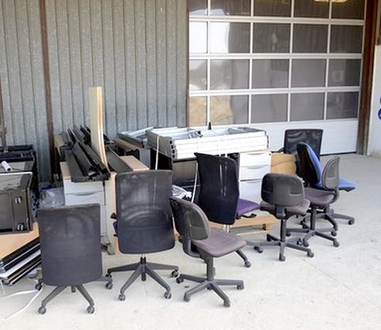 reemploi de chaises de bureau