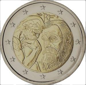 2 euros commémorative - Auguste Rodin France