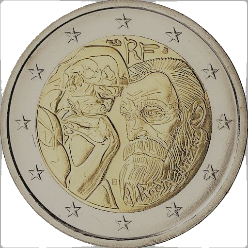 2 euros commémorative - Auguste Rodin France