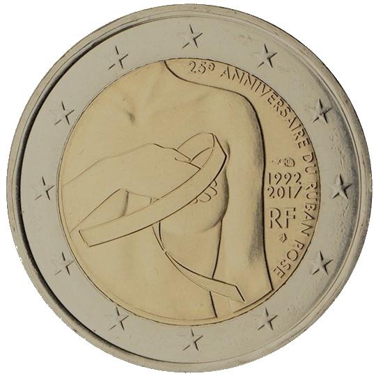 2 euros commémorative - lutte contre le cancer du sein France