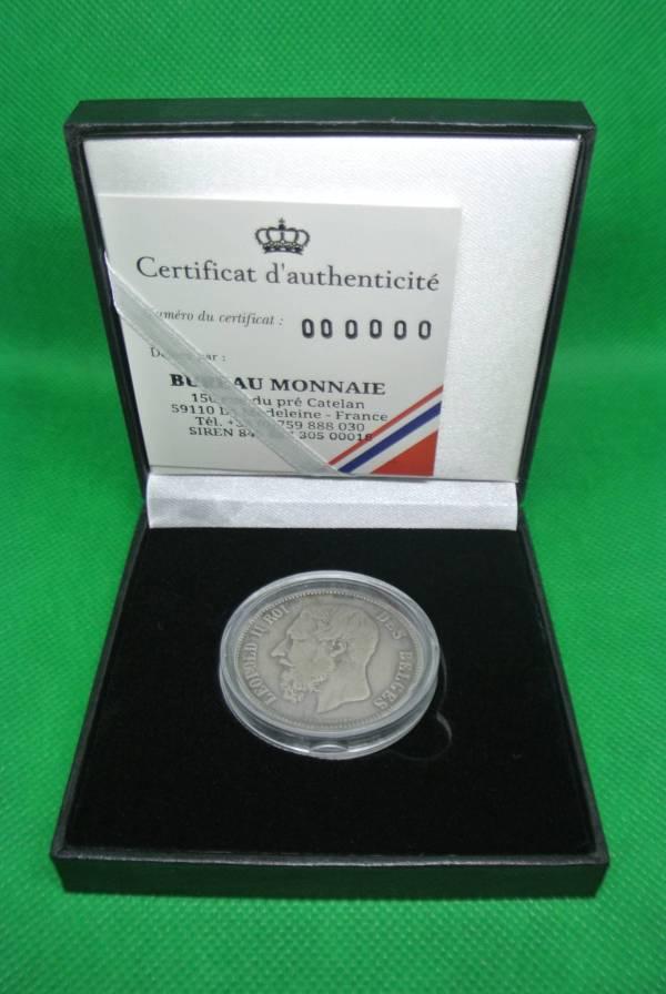 Léopold II 5 francs argent pièce belge