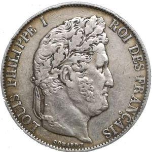 Pièce de 5 Francs de Louis-Philippe en argent massif