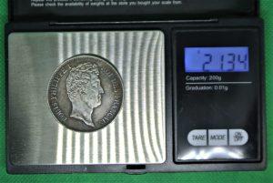 Fausse pièce de 5 francs argent Louis-Philippe
