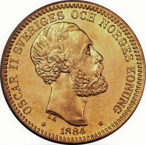 220 couronnes Oscar II roi de Suède et de Norvège 20 kronor