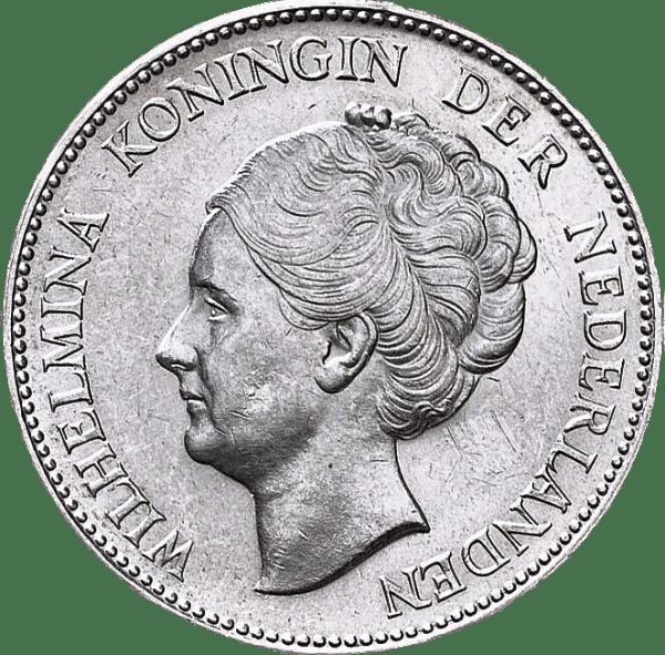 Wilhelmina 1 gulden en argent florin néerlandais