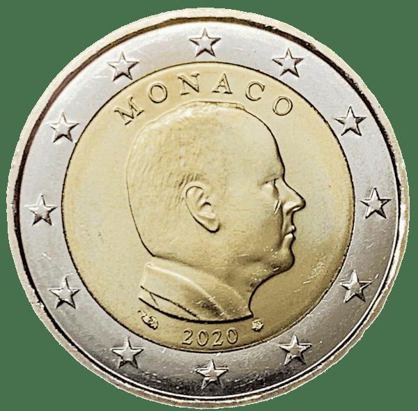 2 euros Monaco 2020 prince Albert II