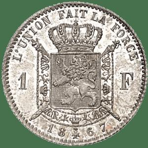 1 Franc Léopold II